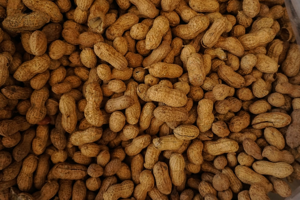 A pile of peanuts.